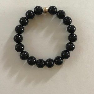 Jewelry - Onyx Bead Stretch Bracelet